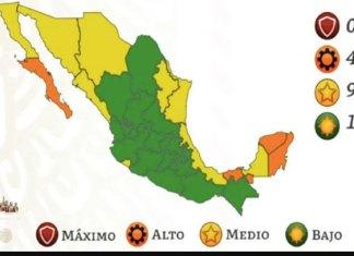 19 estados estarán en semáforo verde y cuatro en naranja