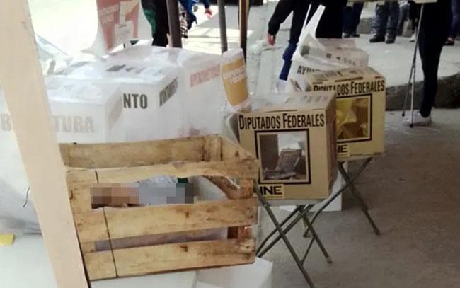 Arrojan cabezas humanas en casillas electorales de Tijuana