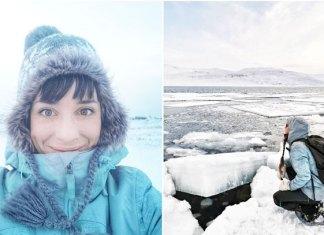 Mujer pasa la cuarentena sola en el Ártico