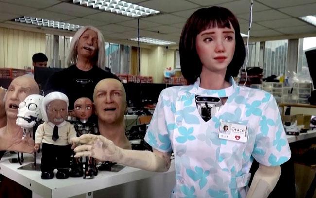 primera enfermera robot que atenderá pacientes covid en Hong Kong