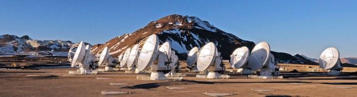 Antenas de ALMA. Imagen: ESO.