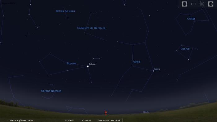 En esta fecha, la constelación del Boyero será visible desde el hemisferio norte, mirando hacia el Este.