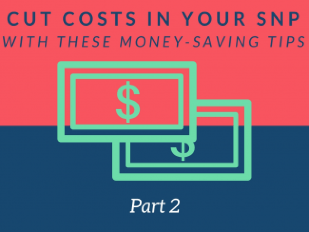 Cut Costs in Your SNP with These Money-Saving Tips - Part 2