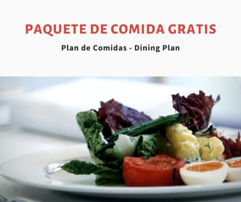 paquete de comida gratis viaje disney 2020