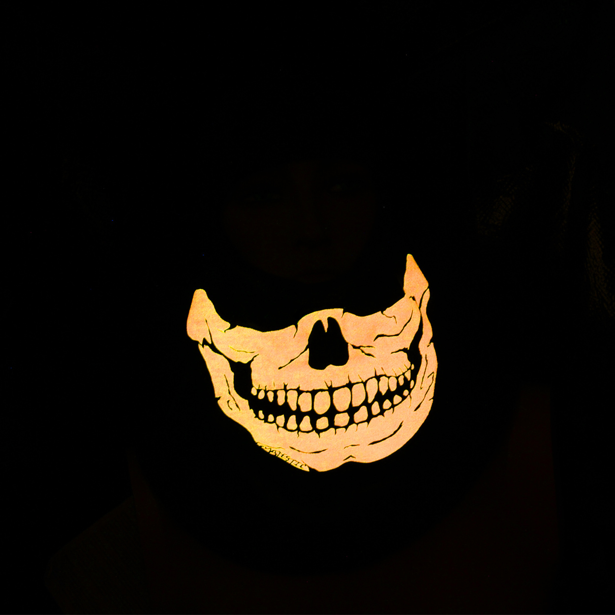 FIRE INK GLOW IN THE DARK ORANGE SKULL