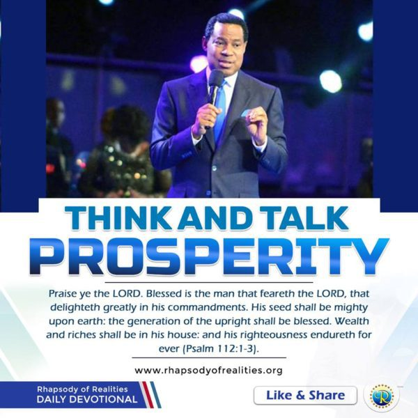 Rhapsody Of Realities – Think And Talk Prosperity