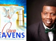 Open Heavens today by Pastor E.A