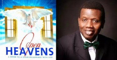 Today's Open Heaven 9 September 2018 Sunday By Pastor E.A Adeboye