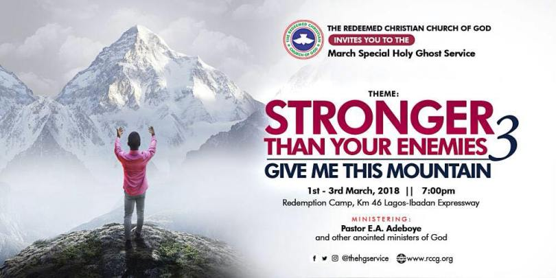 RCCG March 2018 Special Holy Ghost with Pastor E.A Adeboye LIVE VIDEO