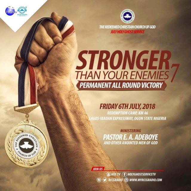 Watch Video Of The RCCG JULY 2018 HOLY COMMUNION SERVICE