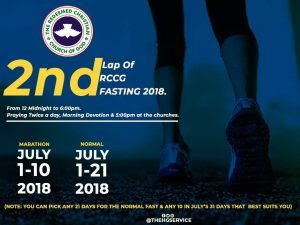 Day 10: RCCG Fasting July 2018 Prayer Points