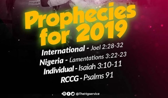 2019 PROPHESY ACCORDING TO PASTOR E.A ADEBOYE