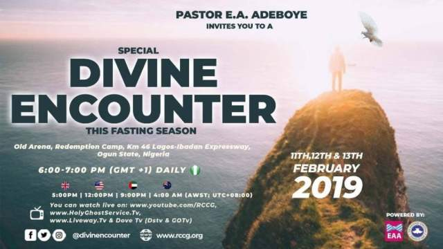 RCCG Special Divine Encounter 2019 With Pastor Adeboye February 11th - 13th