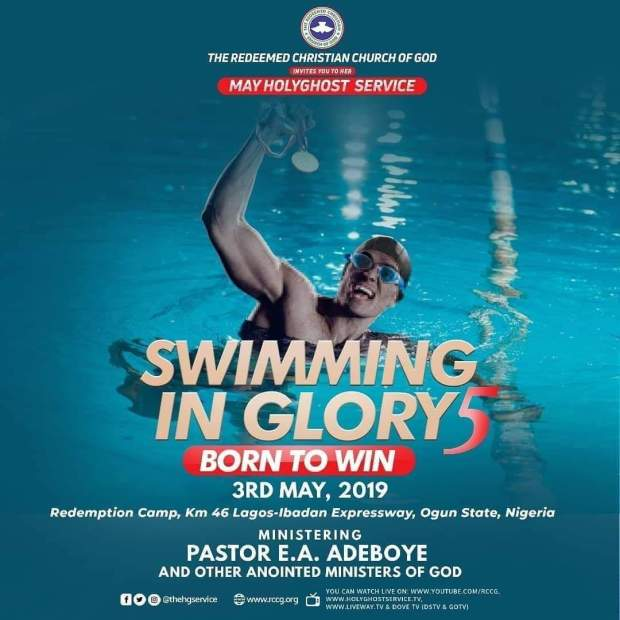 Watch live RCCG MAY 2019 HOLYGHOST SERVICE