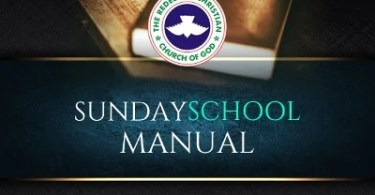 RCCG Sunday School TEACHER's Manual 7 July 2019 – Effective Prayers (Part 2)
