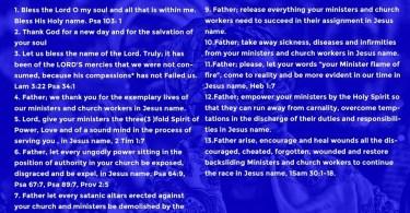 RCCG 30 Days Fasting November 2019 Prayer Points for Day 11 Monday 11th