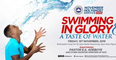 Watch RCCG November 2019 Holy Ghost Service LIVE VIDEO