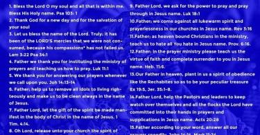Day 13: RCCG November 2019 Fasting Prayer Points – Wednesday, 13th