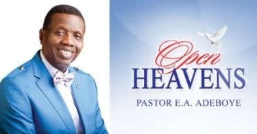 Open Heavens daily Devotionals