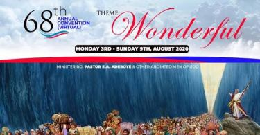 Live Video: RCCG August 2020 Holy Ghost service 68th ANNUAL CONVENTION
