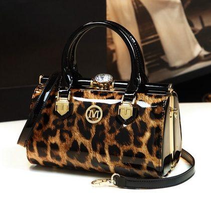 Leopard Print Womens Clutch Evening Bag