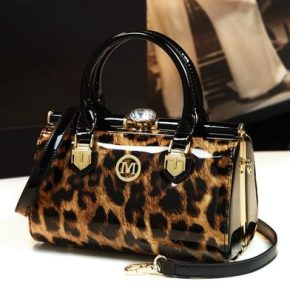 Leopard Print Womens Clutch Evening Bag