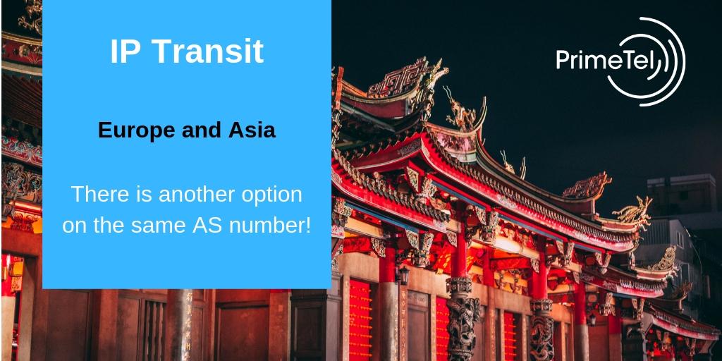 Europe and Asia IP Transit