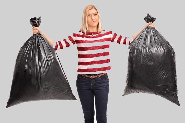 a lot of trash