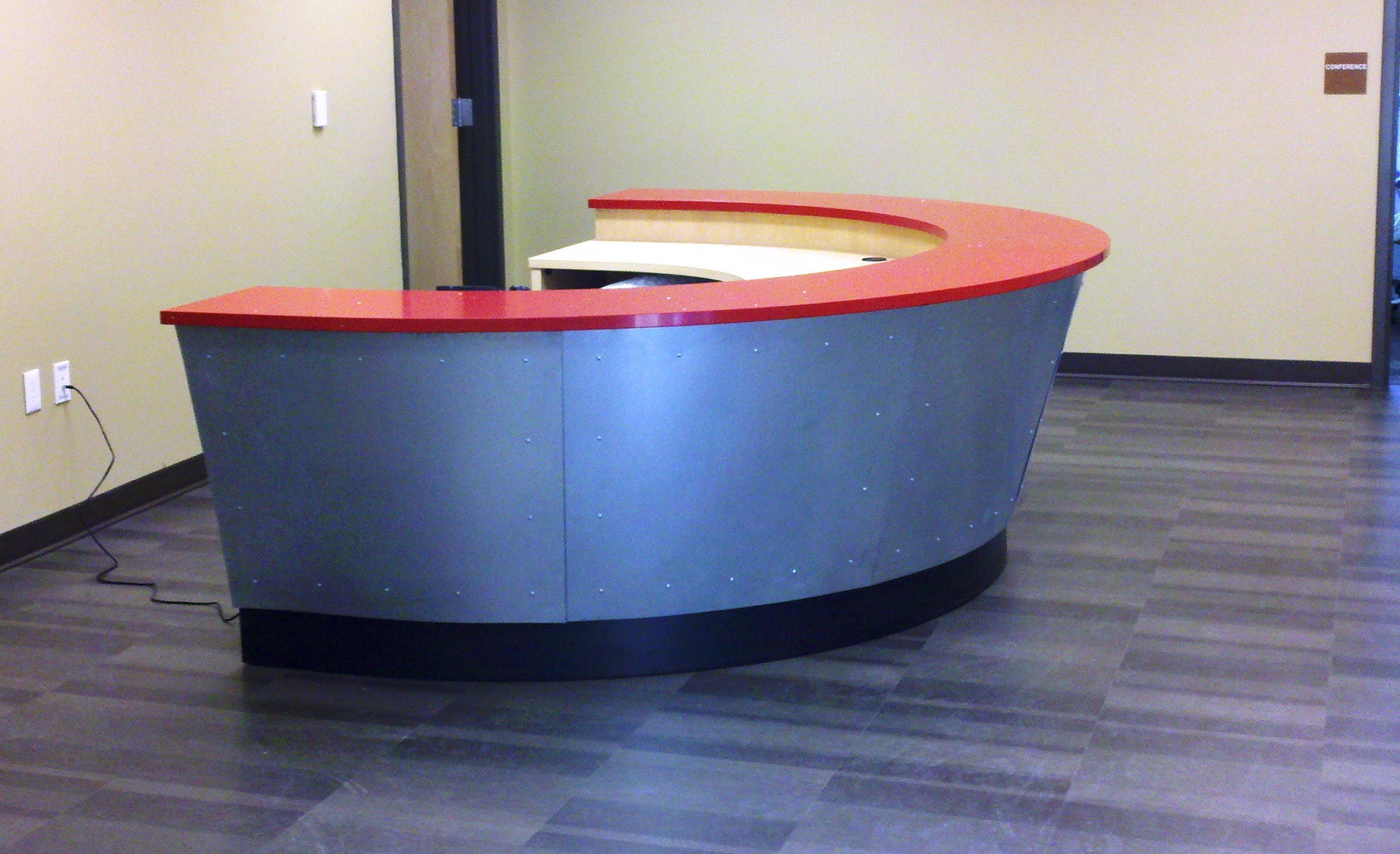 Semi Circle Reception Desk  Desk Design Ideas