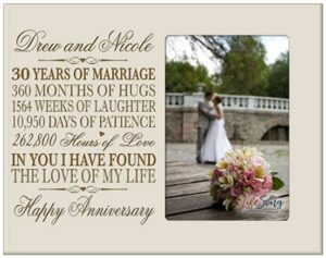 LifeSong Milestones Personalized 30th Year Wedding Anniversary Picture Frame