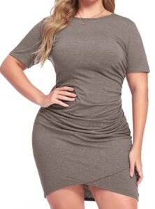 Amazon In'voland Women Plus Size Bodycon Dress