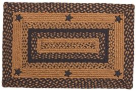 Black Star Braided Rugs