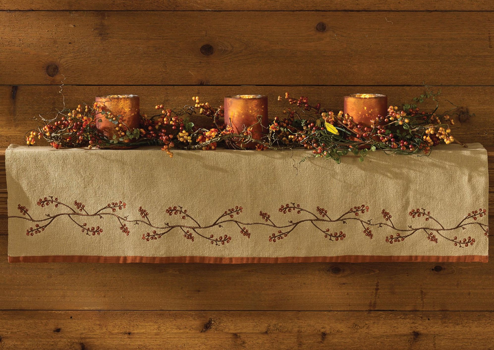braided kitchen rugs sliding shelves harvest decor for your thanksgiving table | primitive home ...