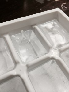 The crazy ice growing in our friend's work freezer