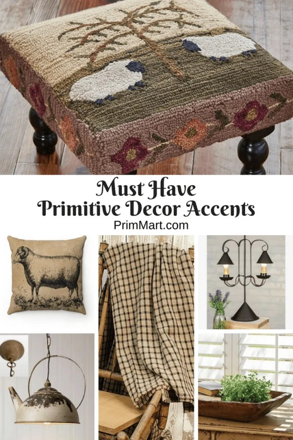 When you're browsing for primitive decor accents for a home, there are often certain items that stand out to you. Here's a few of those we've found for you.