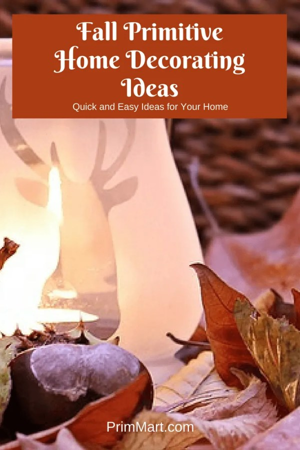 With fall around the corner, it's time to plan some fall primitive decorating ideas. If your decor is stuck in summer, these ideas will get you inspired.