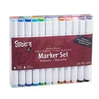 Studio 71 Dual-Tip Alcohol Ink Marker Set