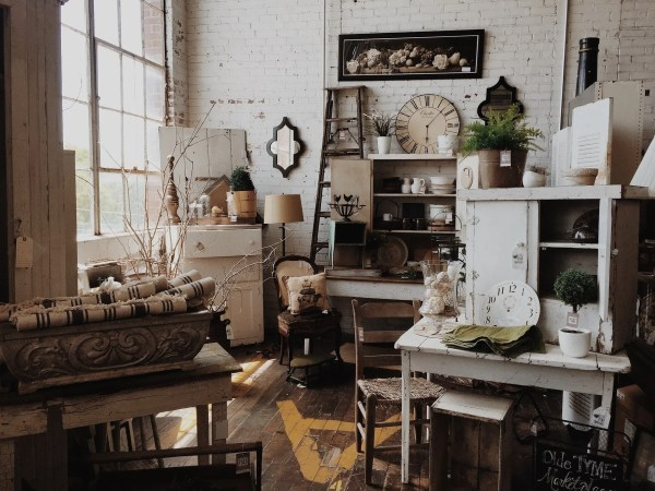 Updating your furniture - a view of a vintage furniture shop
