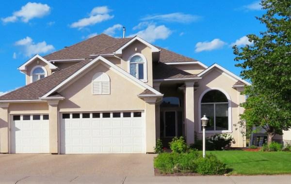 Home with garage doors