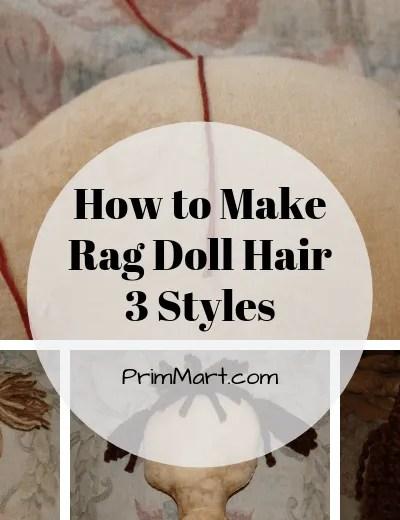 How to Make Rag Doll Hair – 3 Yarn Hair Styles