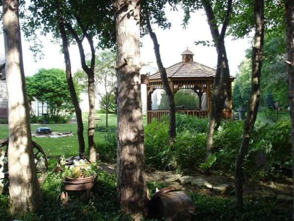 backyard with gazebo