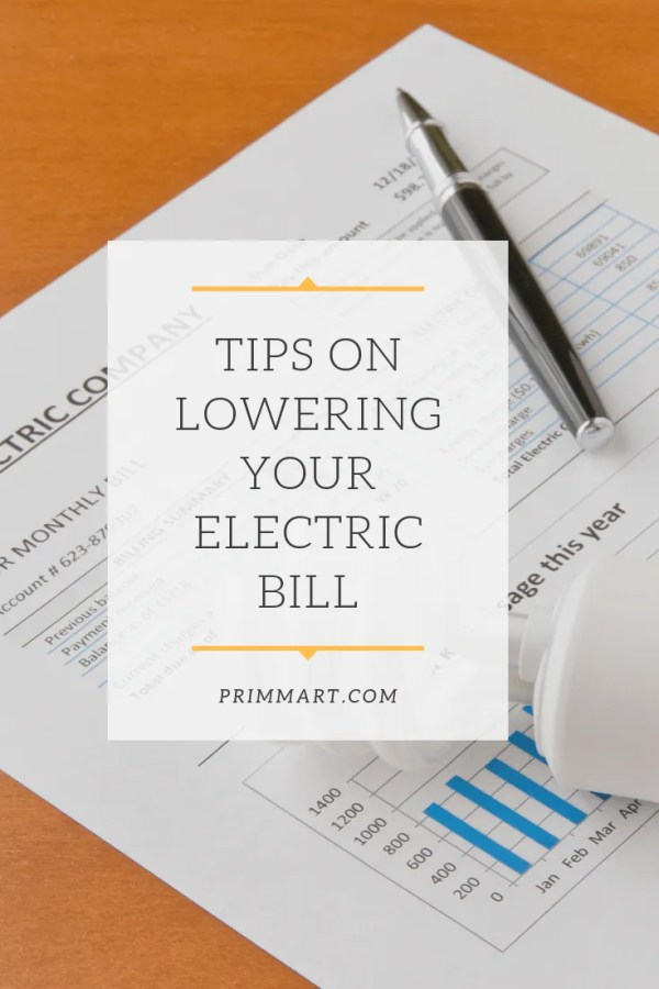 Lowering your electric bill doesn't require that you make drastic changes. Sometimes it is the little things that will make the biggest difference.