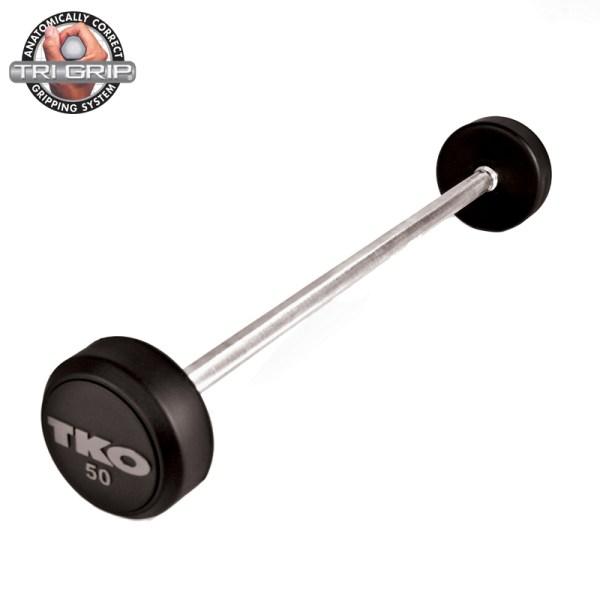 TKO Rubber Tri-Grip Straight Bar
