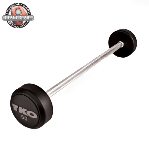TKO Rubber Tri-Grip Straight Bar