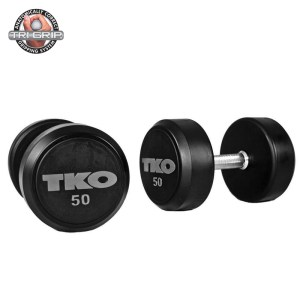 TKO Rubber Tri-Grip Round Dumbbells