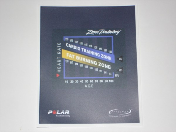 Life Fitness Zone Training Console Decal