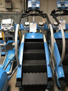 Custom powder blue frames on these stepmills