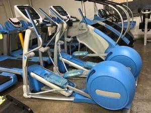 Custom powder blue frames on these ellipticals