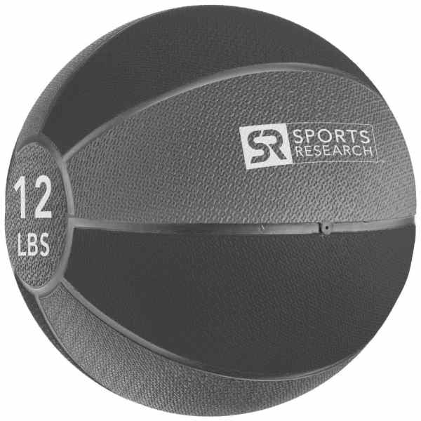 Sports Research Medicine Ball 12 lb - Black