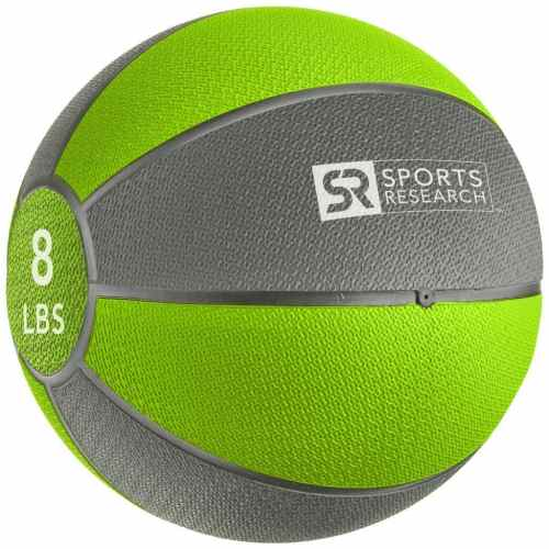 Sports Research Medicine Ball 8 lb - Green